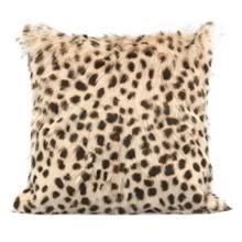 """Leopard Print Goatskin 20"""" Pillow"""
