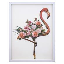 Floral Flamingo I