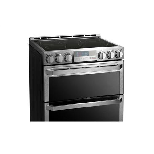 LG - LG SIGNATURE 7.3 cu.ft. Smart wi-fi Enabled Electric Double Oven Slide-In Range with ProBake Convection®