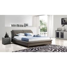Modrest B1320 Modern Grey Bonded Leather Bed