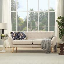 Remark Upholstered Fabric Sofa in Beige