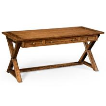 Country living style walnut desk