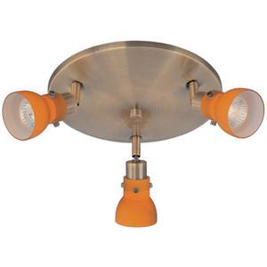 3-head Spot Light (wall/flush Mount), Ab/amber, Gu10 50wx3