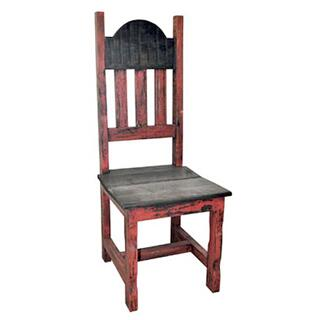 See Details - Red Scraped Wood Plain Chair