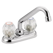 Chateau Chrome two-handle low arc laundry faucet
