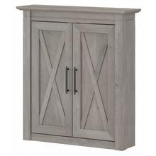 Key West Bathroom Bathroom Wall Cabinet with Doors - Driftwood Gray