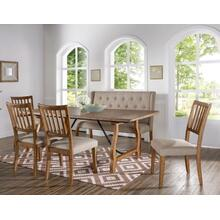 Yuma 6-Piece Dining Set (Dining Table, Bench & 4 Side Chairs)