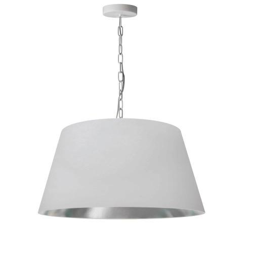 Product Image - 1lt Brynn Medium Pendant, Wht/sv Shade, White