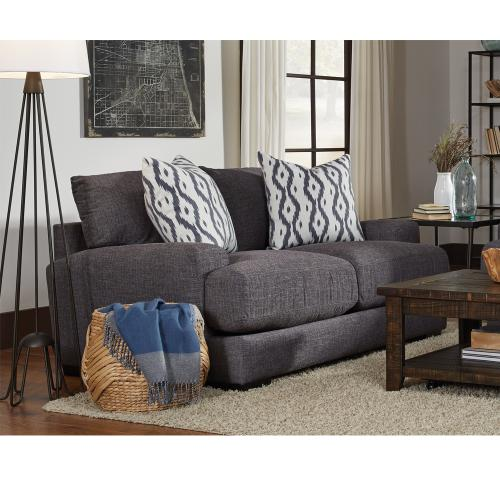 Journey Loveseat in Merriville Graphite with Two Pillows in Parga Smoke
