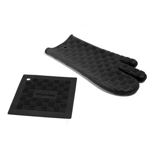 Oven Mitt & Trivet - Silicone Grill Mitt, Heat Resistant to 500°F.