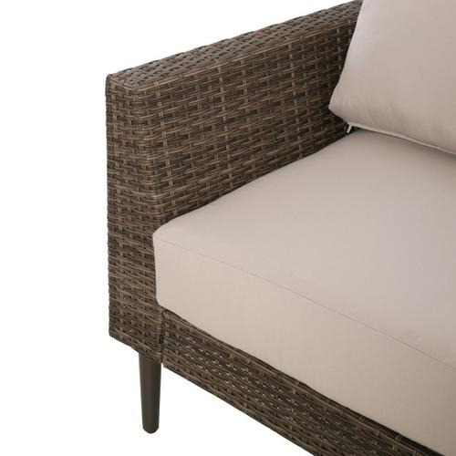 Transitional Weaved Chair Frame in Brown