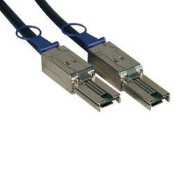 External SAS Cable, 4 Lane - mini-SAS (SFF-8088) to mini-SAS (SFF-8088), 1M (3 ft.)