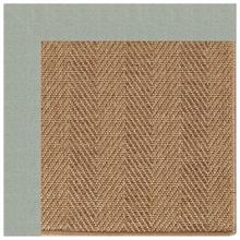 "Islamorada-Herringbone Canvas Spa Blue - Rectangle - 24"" x 36"""