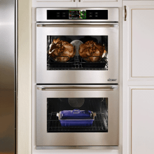 "Discovery 30"" iQ Double Wall Oven, in Stainless Steel with Chrome Trim"