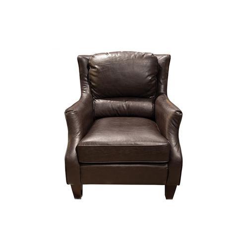 Porter International Designs - Garnett Espresso Leather-Look Accent Chair, ACL519