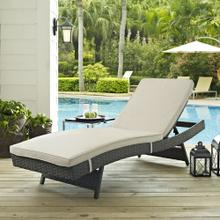 Sojourn Outdoor Patio Sunbrella® Chaise in Antique Canvas Beige
