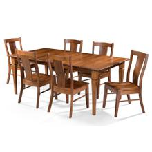 See Details - Rectangular Table/4 sided taper legs & Lucas Chair