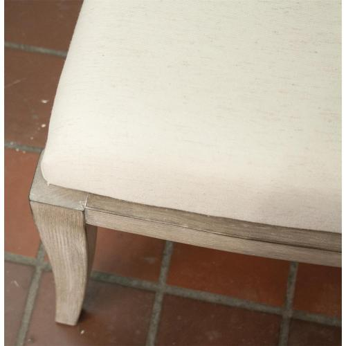 Sophie - X-back Upholstered Side Chair - Natural Finish