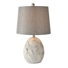 Faux Marble Table Lamp. 40W Max.