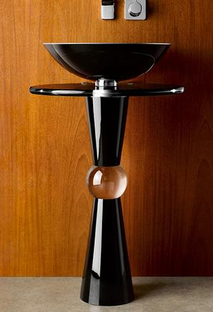 Cono Pedestal - Shown with 210 Basin and Black Countertop Product Image