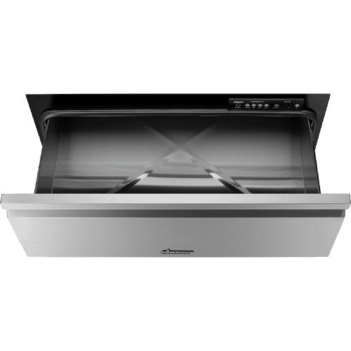 "30"" Flush Warming Drawer, Silver Stainless Steel"