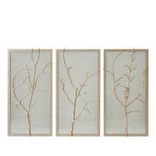 Silver Hawthorn Trio Wall Mirror
