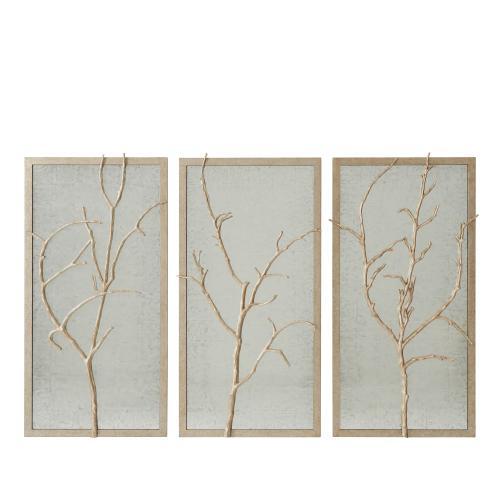 See Details - Silver Hawthorn Trio Wall Mirror