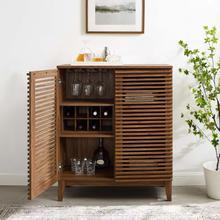 See Details - Render Bar Cabinet in Walnut