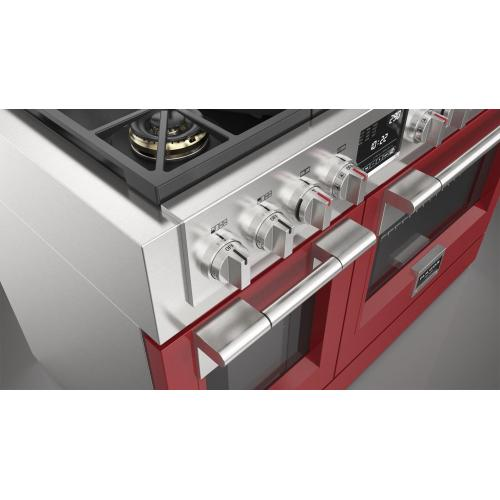"""48"""" Dual Fuel Pro Range - Glossy Red"""