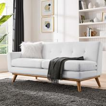 See Details - Engage Left-Arm Upholstered Fabric Loveseat in White