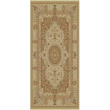 "Persian Design 1.5 Million Point Heatset Tabriz 3694 Area Rug by Rug Factory Plus - 5'4"" x 7'5"" / Cream"
