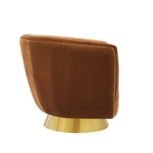 Hanna Swivel Chair, Rust
