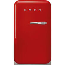 Retro-Style Mini Refrigerator, Left-hand hinge, Red