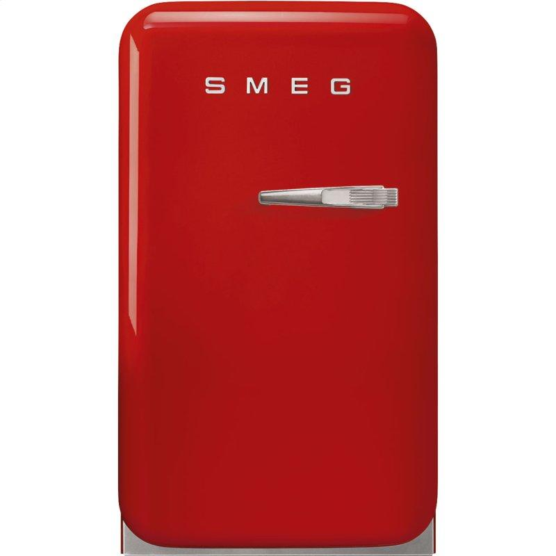 Retro-Style Mini Refrigerator, Left-hand hinge, Red