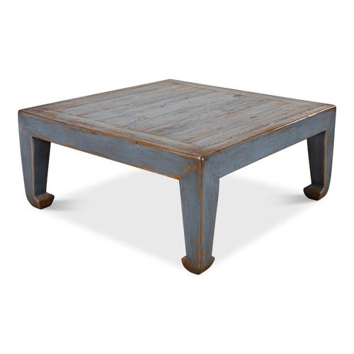 Classic Chinese Coffee Table, Blue