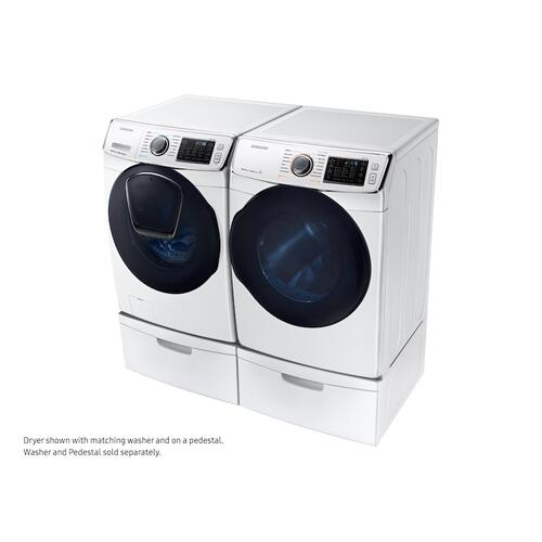 7.5 cu. ft. Smart Gas Dryer with MultiSteam™ in White