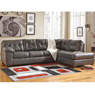 Signature Design by Ashley Alliston Sectional with Right Side Facing Chaise in Gray Faux Leather [FSD-2399RFSEC-GRY-GG] Product Image