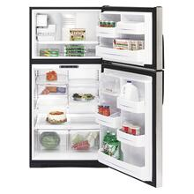 GE® ENERGY STAR® 21.7 Cu. Ft. Stainless Top-Freezer Refrigerator with Internal Dispenser