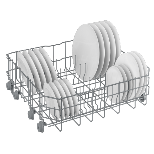 Beko - Tall Tub White Dishwasher, 14 place settings, 48 dBa, Front Control