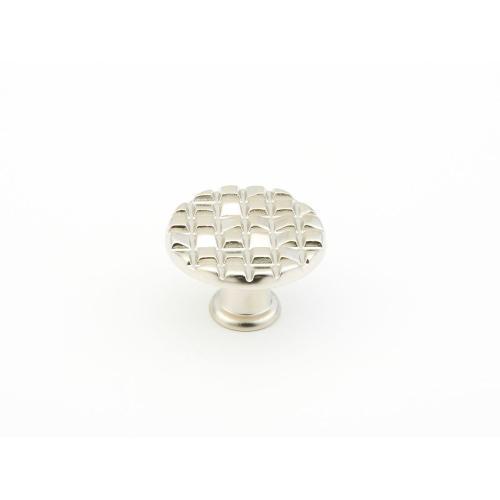 "Mosaic, Small Round Knob, 1-1/8"" diameter, Satin Nickel finish"