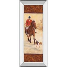 """On The Hunt I"" By Linda Wacaster Mirror Framed Print Wall Art"