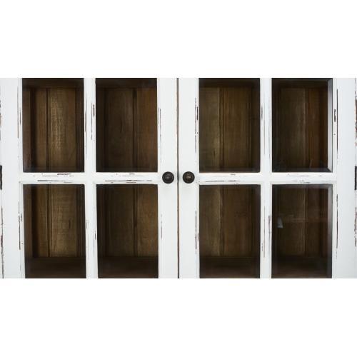 2 Door Cottage Cabinet w/ Glass