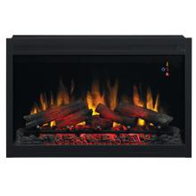 "36"" Traditional Built-In Electric Fireplace Insert, 240 Volt"