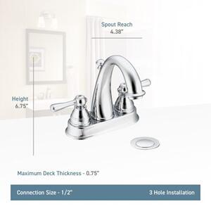 Kingsley wrought iron two-handle bathroom faucet