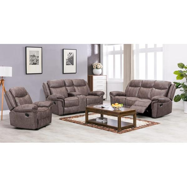 See Details - Carrizo Reclining Sofa, Console Loveseat & Recliner, M7621