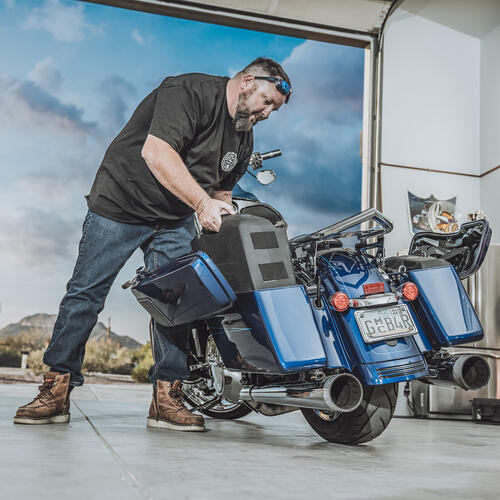"Rockford Fosgate - 2014+ Harley-Davidson® Dual 10"" Saddlebag Subwoofer Kit"