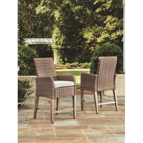 Beachcroft Bar Stool With Cushion (set of 2)