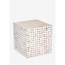 Cassy Stool-WH (16.5x16.5x16.5)