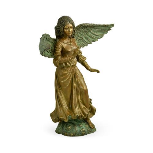 Antique Light Brown Brass Angel