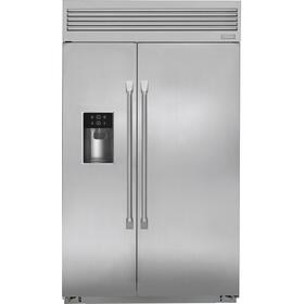 """Monogram 48"""" Smart Built-In Professional Side-by-Side Refrigerator with Dispenser"""